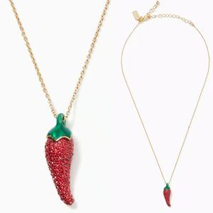 kate spade Jewelry - kate spade Haute Stuff Red Pepper Necklace NWT